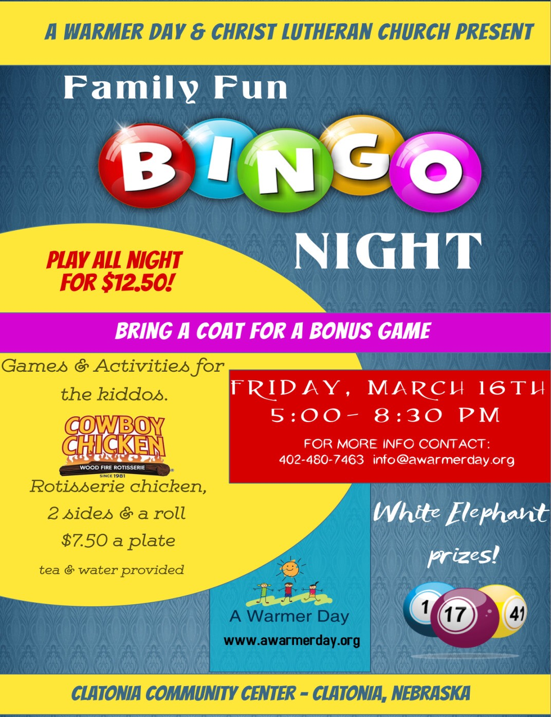 Bingo Night in Clatonia!