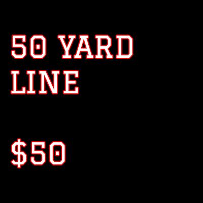 Summer Fundraiser 50 Yard Line Ticket $50