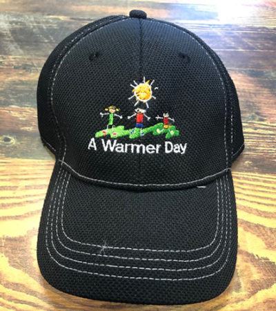 buy a warmer day logo ball cap for charity