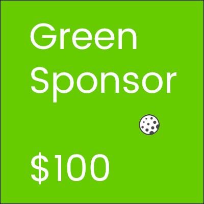 Golf Tournament Green Sponsor