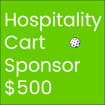 Golf Tournament Hospitality Cart Sponsor